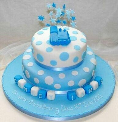 Conely James Christening Cake