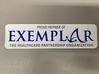 Exemplar Network Window Sticker