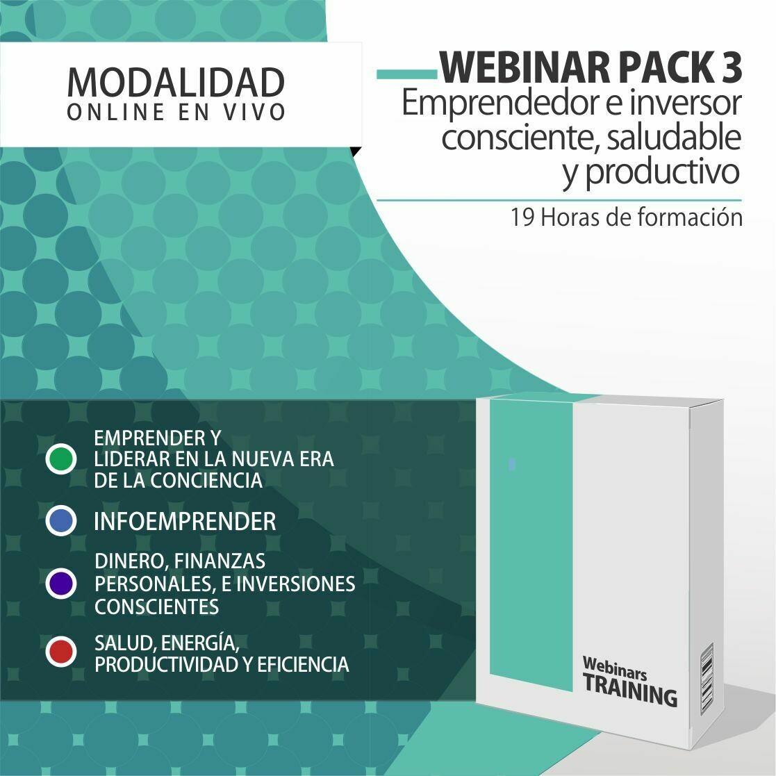 Pack Cursos Online 3:  PACK EMPRENDEDOR E INVERSOR CONSCIENTE, SALUDABLE Y PRODUCTIVO