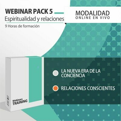 Pack Cursos Online 5:  ESPIRITUALIDAD Y RELACIONES CONSCIENTES