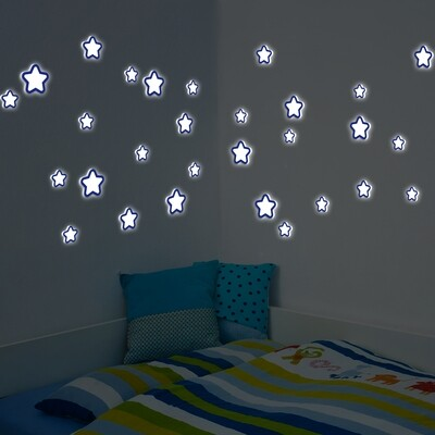 Glow in the Dark Stars Foam Sticker