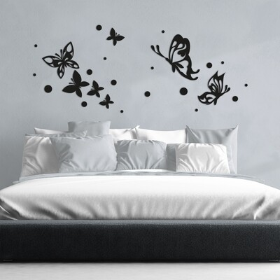 Butterflies Silhouettes Self Adhesive Removable Foam Sticker