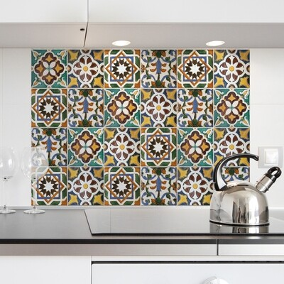 Green Tiles Self Adhesive Kitchen Panel