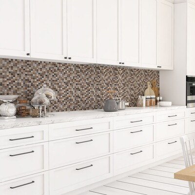 Brown Mosaic Self Adhesive Backsplash