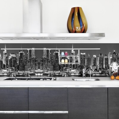 New York Skyline Self Adhesive Backsplash