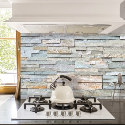 Grey Stones Self Adhesive Backsplash