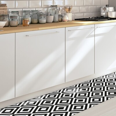 Black & White Self Adhesive Vinyl Runner