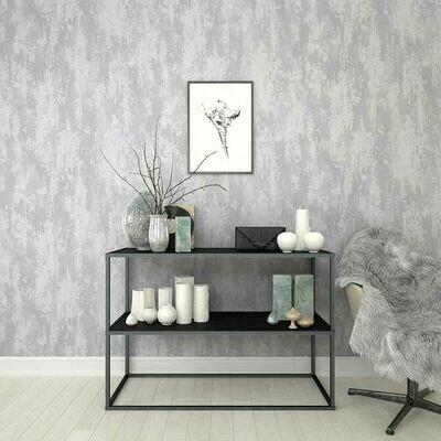 Industrial Texture Silver Wallpaper