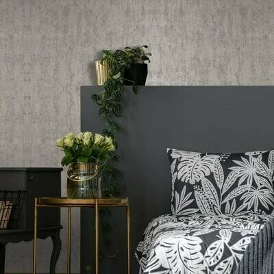 Molten Pale Gold Textured Wallpaper