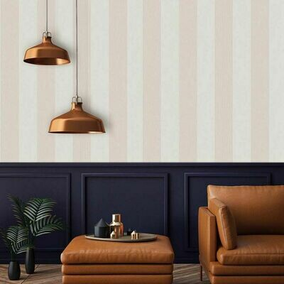 Mercury Stripe Rose Gold Wallpaper