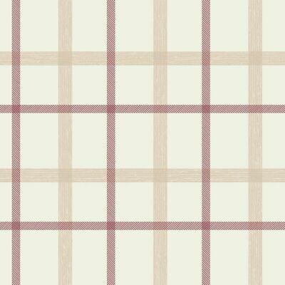 Plaid Russet Wallpaper