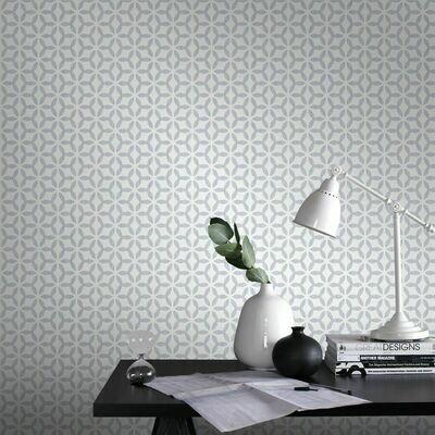 Helice Silver Wallpaper