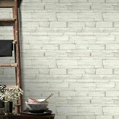 Ledgestone Beige Wallpaper