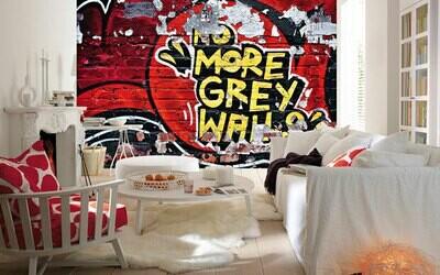 No More Grey Walls Wall Mural