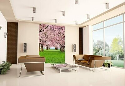 Cherry Trees Wall Mural