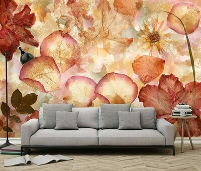 Dried Flowers Wall Mural