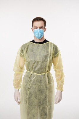 Disposable Isolation Gown PP+ABS - ONLY $4.08 per gown (1,000 gown box)