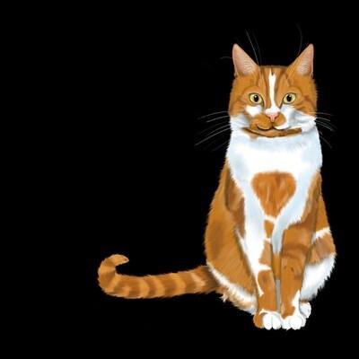 Realistic Portrait of Your Pet (digital file)