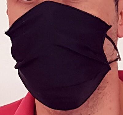 Mascherina facciale in TNT Fantasia NERO