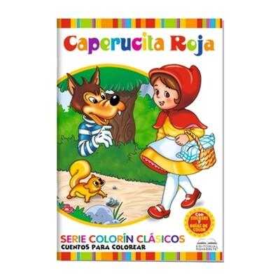 CUENTO COLORÍN A4 - CAPERUCITA ROJA