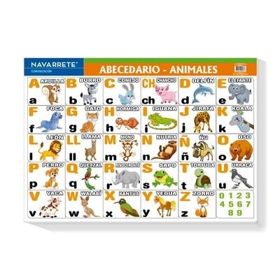 LÁMINA MURAL 50 X 70 CM ABECEDARIO - ANIMALES
