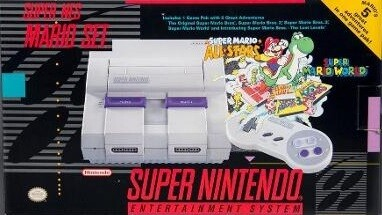SUPER NINTENDO ENTERTAINMENT SYSTEM MARIO SET (COMPLETE IN BOX) (usagé)