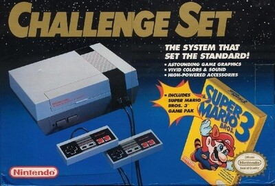 NINTENDO ENTERTAINMENT SYSTEM CHALLENGE SET (NO FOAM) (usagé)