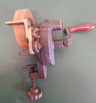#1-1019 Vtg. Craftsman Hand Sharpener Grinder