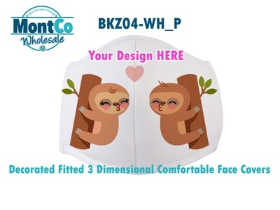 Decorated Reusable 3 Layer Fitted Face Cover With Filters