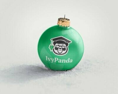 IvyPanda Branded Christmas Ornament Green