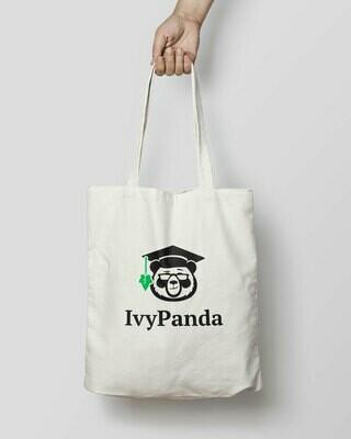 IvyPanda Branded Shopping Bag White