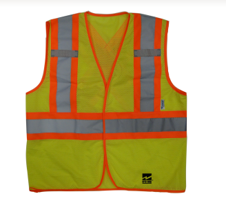 "Safety Vest,  Open Road® ""BTE"", Lime Green"