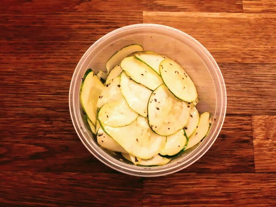 Marinated Zucchini Slices