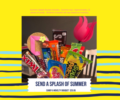 Splash of Summer Candy and Toy Bouquet