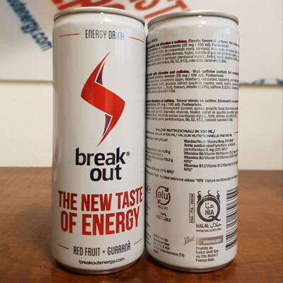 Breakout Energy Drink - 24 x 250 ml
