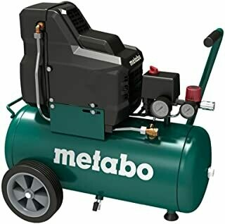 Metabo Compressor for compressed Air Tool Basic 250-24 W OF / 8 Bar Compressor for Mobile Applications / Oil-Free with Manometer