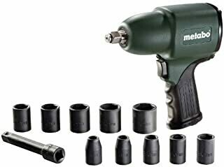 Metabo DSSW360 Set 6 Pneumatic Impact Screwdriver litres/Minute, Green, 1