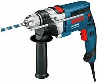 Bosch professional GSB 16 RE hammer drill, keyless chuck 13 mm depth stop 210 mm, additional handle + case (750 W)