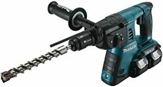 Makita Cordless Drill Hammer for SDS Plus 2 x 18V, Without Battery and Charger, DHR264Z, 100 W, 18 V
