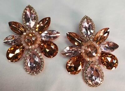 Amber Diamond Earrings