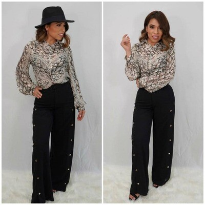 Black Bell Pant