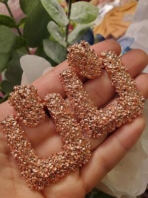 Earrings U Rose Gold