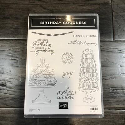 Birthday Goodness Cling Stamp Set