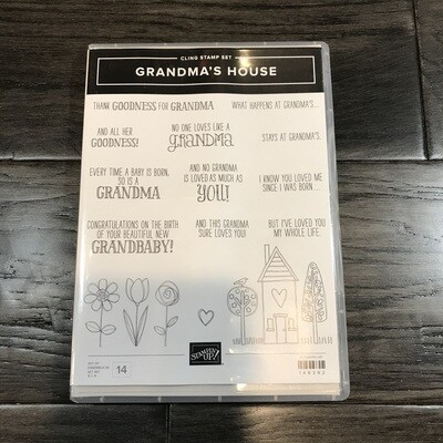 Grandma's House Cling Stamp Set