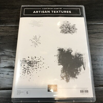 Artisan Textures Cling Stamp Set