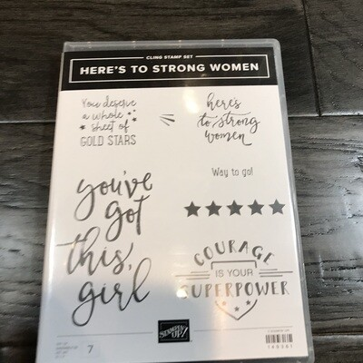 Here's to Strong Women Cling Stamp Set