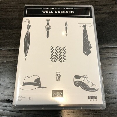 Well Dressed Photopolymer Stamp Set