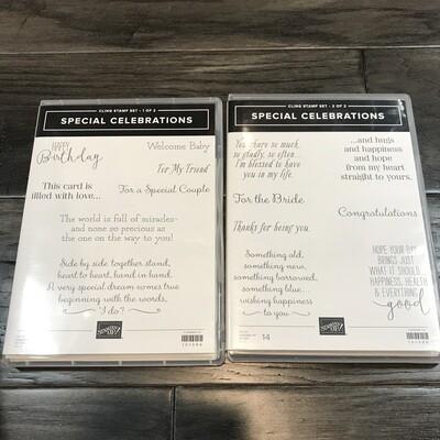 Special Celebrations Cling Stamp Set