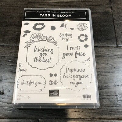 Tags In Bloom Photopolymer Stamp Set
