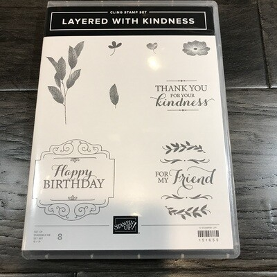 Layered With Kindness Cling Stamp Set